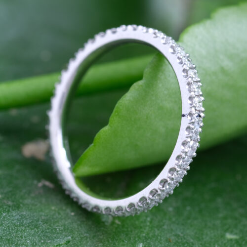 Full Circle All Round Diamond Set Wedding Ring