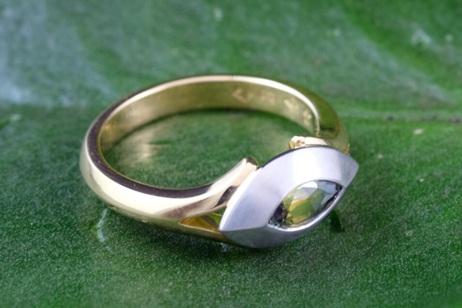 Marquise Parti Sapphire Eye Ring